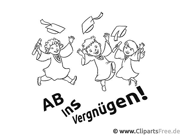 Fröhliche Schüler Endliche Abi - Ausmalbilder Schule