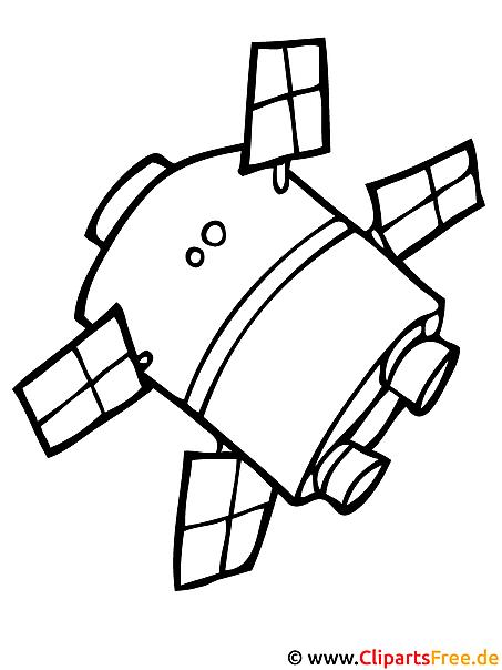 Ausmalbild Satellit