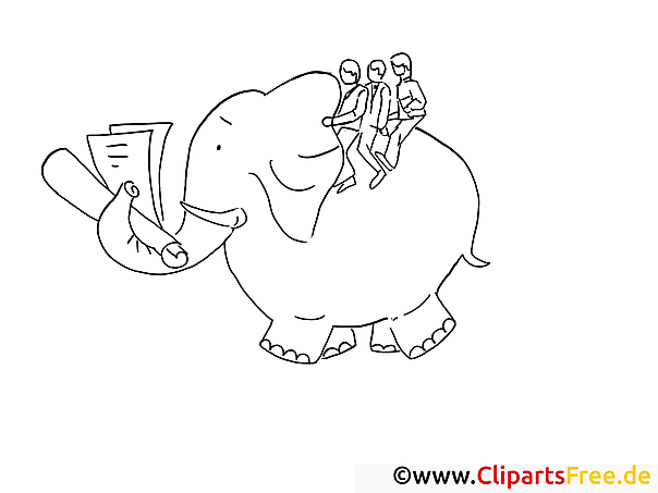 Elefant reiten Coloring Book