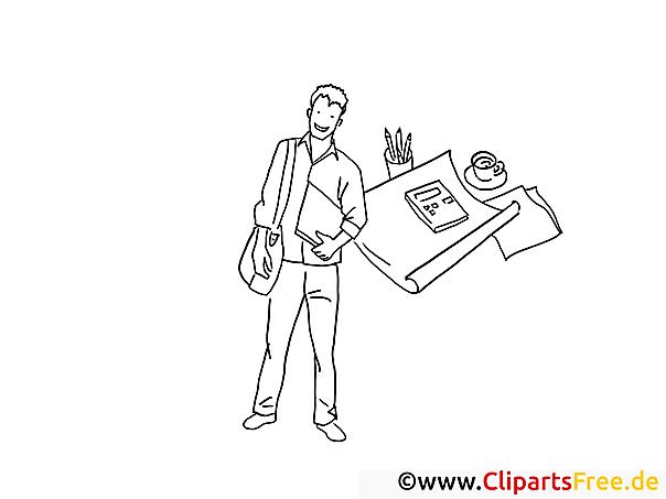Reporter Schwarz-weiss Clipart-Bilder zum Drucken und Ausmalen