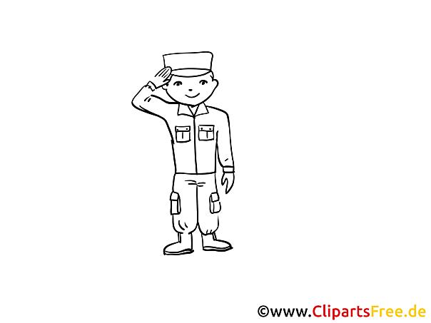 Soldat Malvorlage zum Ausdrucken kostenlos