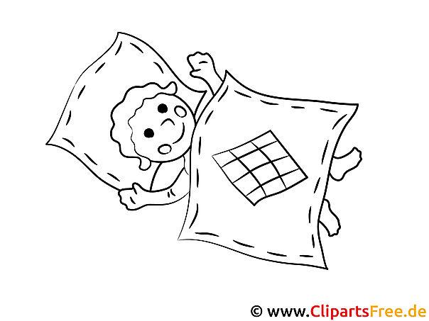 Kind schläft ein Malvorlage, Ausmalbild, Vorlage zum Ausmalen