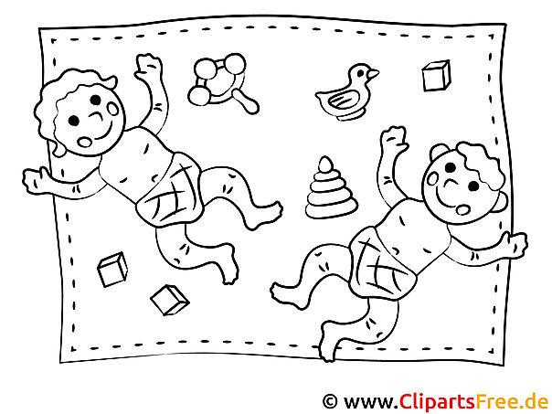 Kinder spielen - KIndergarten Bilder, Malvorlagen, Ausmalbilder