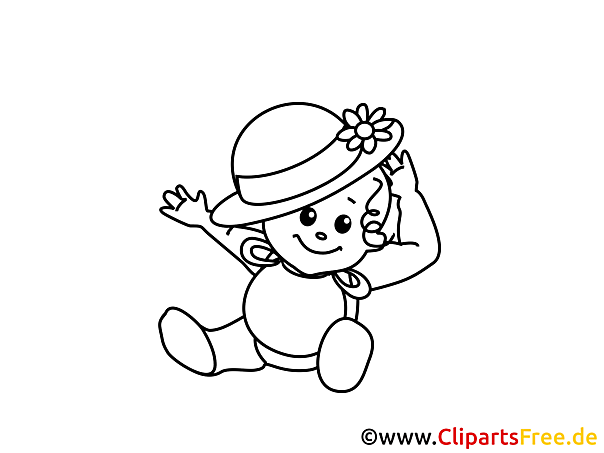 Kostenloses Ausmalbild Baby-Mode