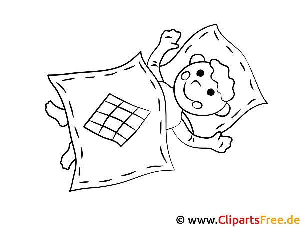 Schlafen Ausmalbilder fuer Kindergarten und Schule