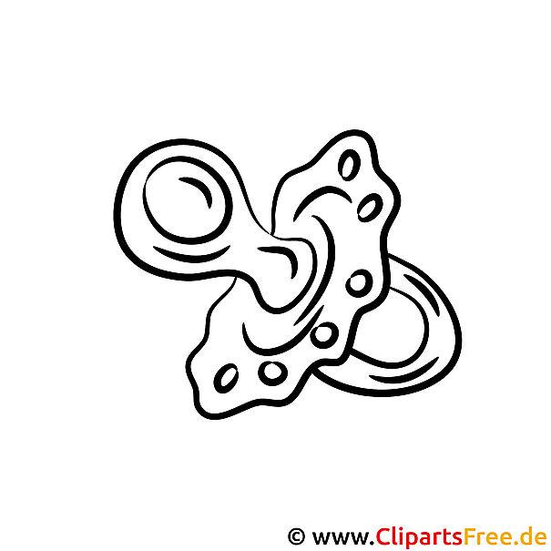 Schnuller Clipart-Bild zum Ausmalen
