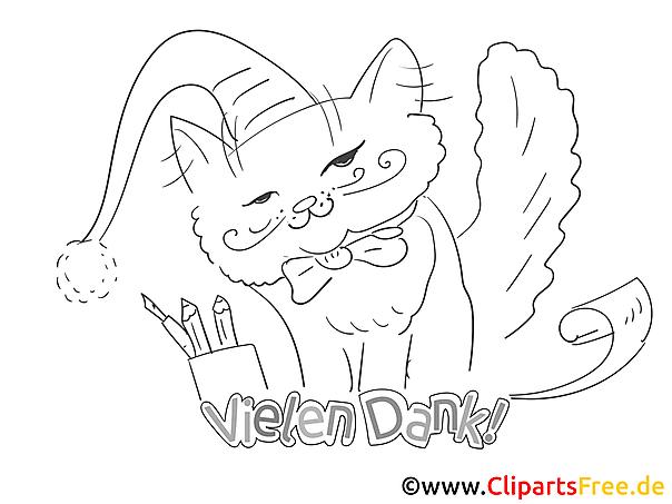 Bleistifte Katze Ausmalbilder Kostenlos Zum Ausdrucken