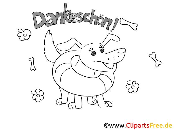 Hund Dankeskarte selber drucken