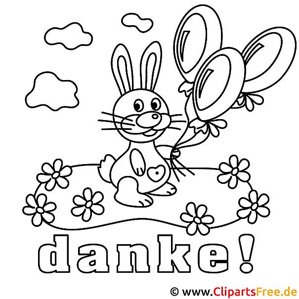 Kaninchen lustige Malvorlage