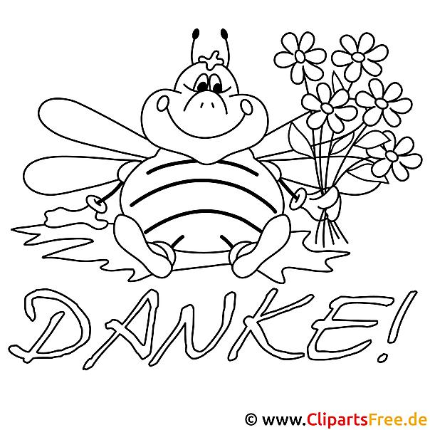 Lustige Biene Bild zum Ausmalen