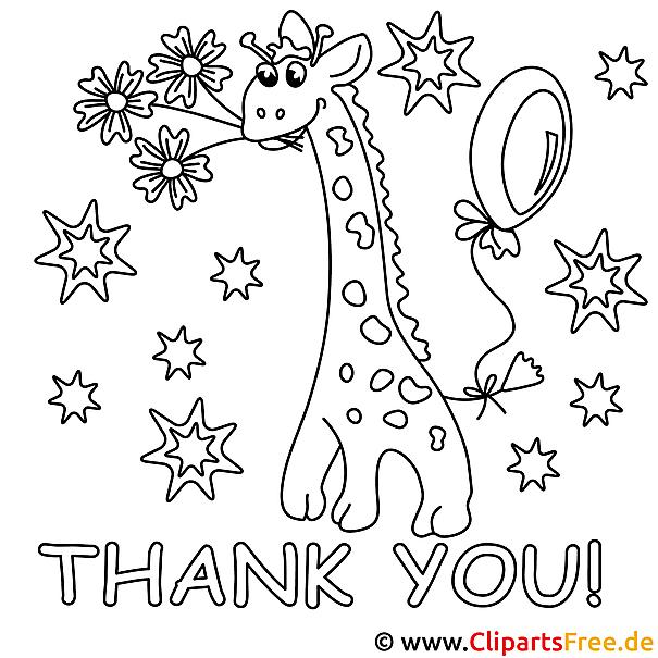 Malschablonen zum Ausdrucken kostenlos - Giraffe Malschablone