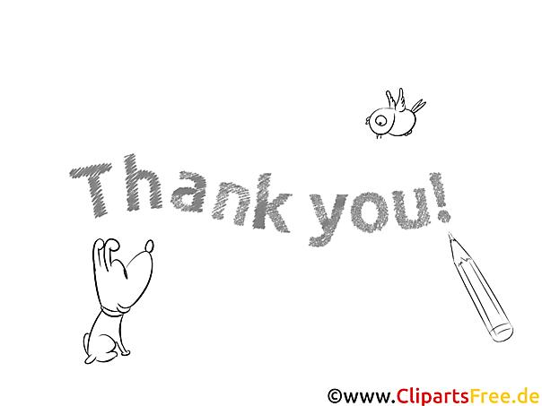 Thank You Ausmalbild Hund Bleistift