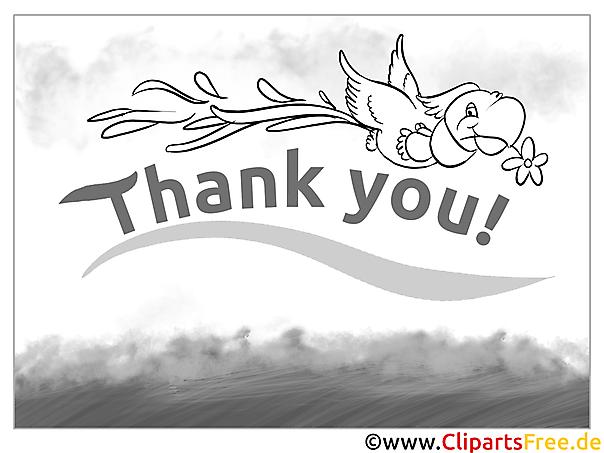 Thank You Ausmalbild Papagei