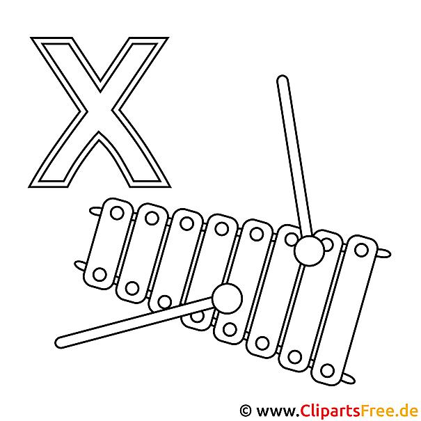 Xylophon Ausmalbild - Bilder zum Ausmalen