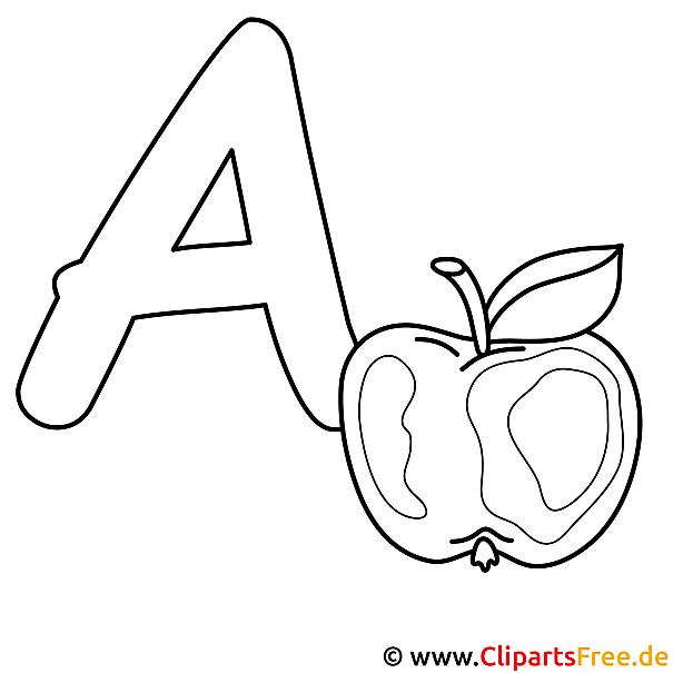 Apple - Buchstaben zum Ausdrucken