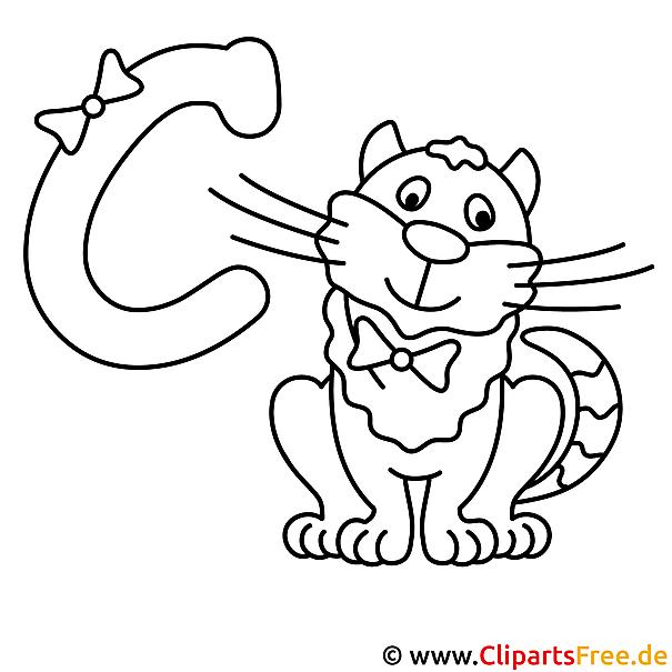 Cat - Englisches Alphabet