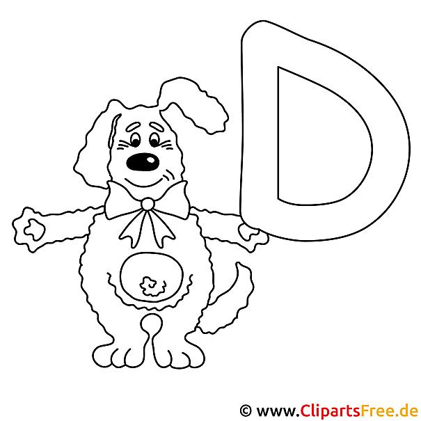 Dog - Buchstaben malen