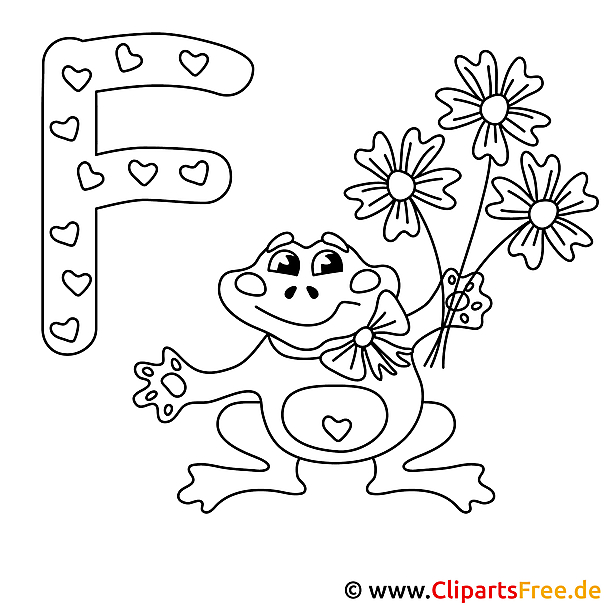 frog - buchstaben ausmalen