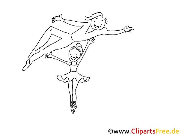 Bilder Ballet zum Ausmalen kostenlos