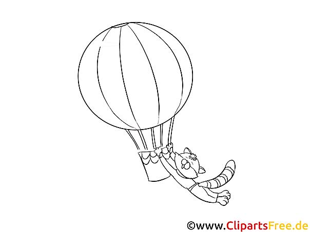 Luftballonfahrt Bilder, Malvorlagen, Grafiken zum Drucken und Ausmalen