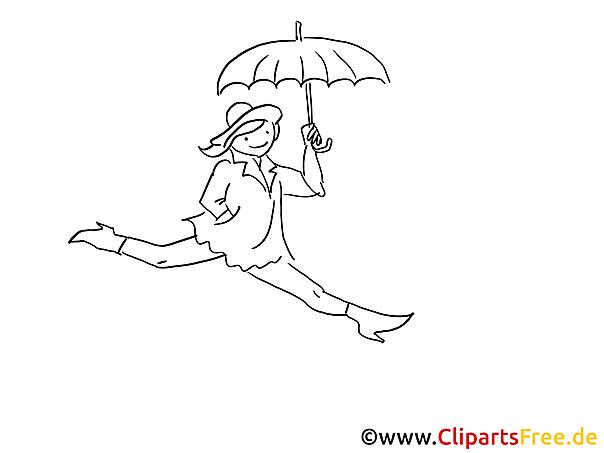 Regenschirm Ausmalbilder gratis