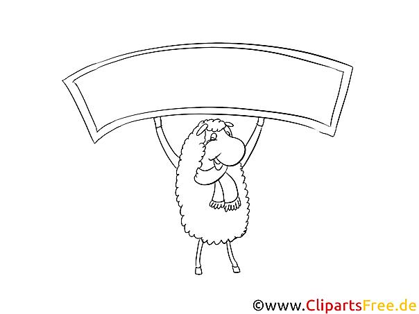 Schaf Bilder, Malvorlagen, Grafiken zum Drucken und Ausmalen