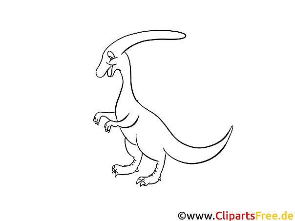 Ausmalbilder für Kinder mit Dinosaurier