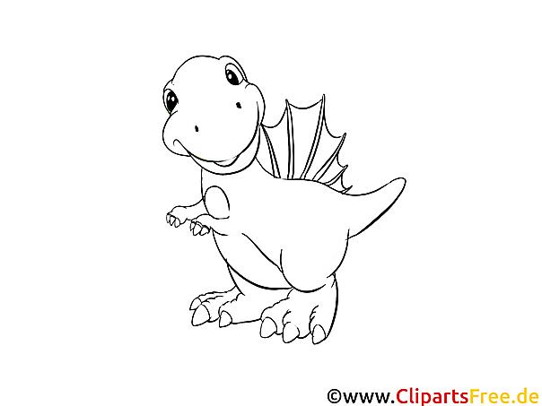 Dinosaurier   Ausmalbilder für Kinder