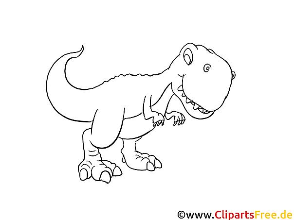 Rex Dinosaurier Ausmalbild