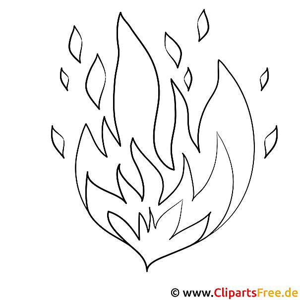Feuer Bild zum Ausmalen