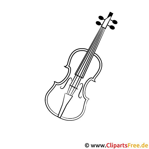 Geige Bild zum Ausmalen