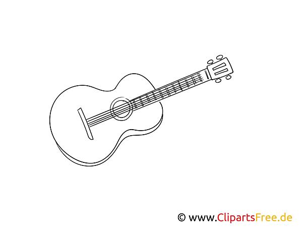 Gitarre Bild, Malvorlage