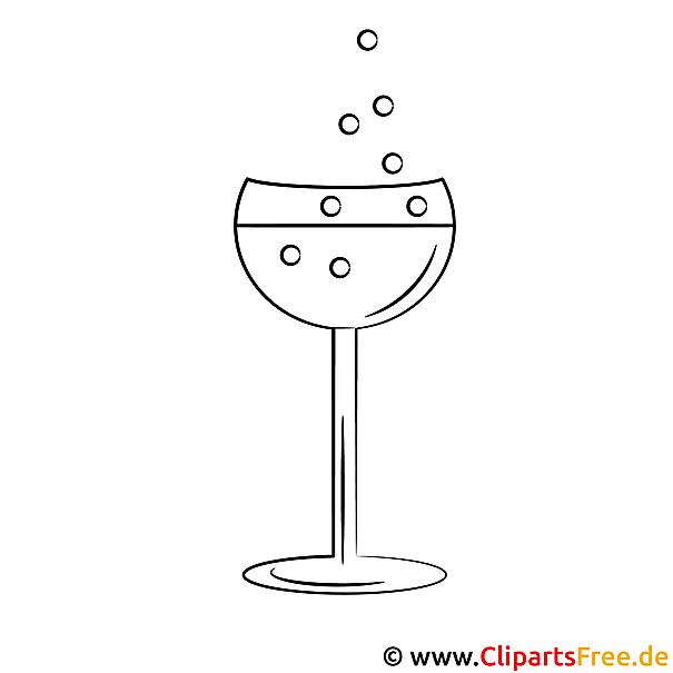 Glas Bild zum Ausmalen