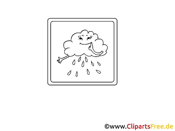 Regenwolke gratis Bilder zum Ausmalen