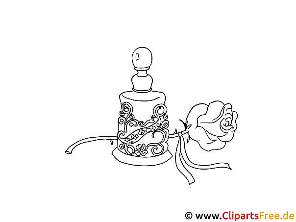 rose und parf m bild schwarz weiss zum ausmalen. Black Bedroom Furniture Sets. Home Design Ideas