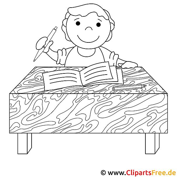schreiben bild zum ausmalen. Black Bedroom Furniture Sets. Home Design Ideas