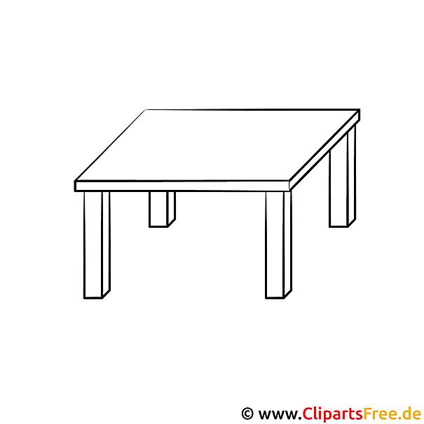 Tisch ausmalbild  Tisch Bild zum Ausmalen