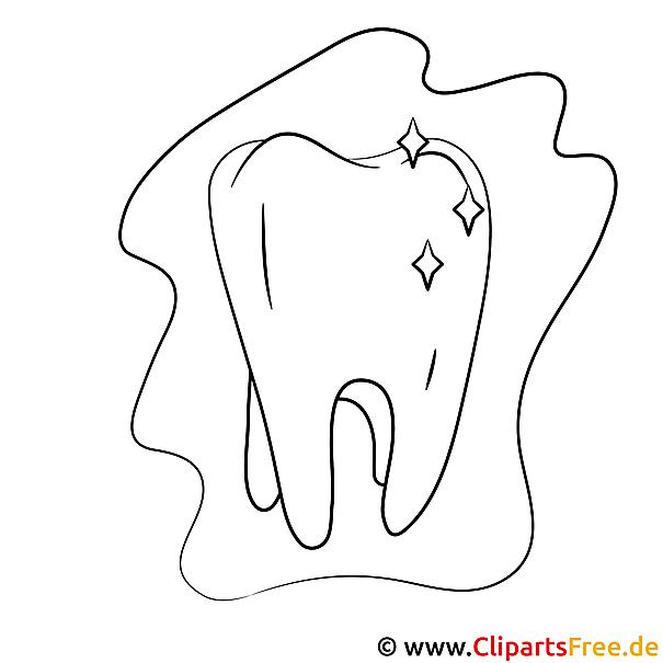 Zahn Ausmalbild