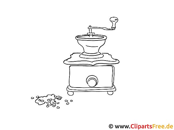 Zeichenvorlage Kaffeemaschine