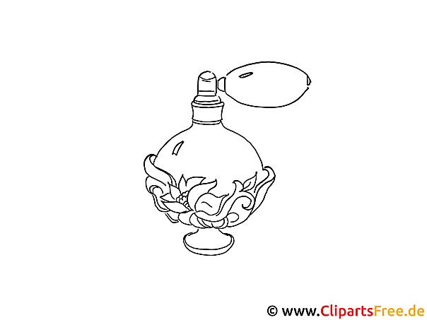 Zeichenvorlage Parfüm