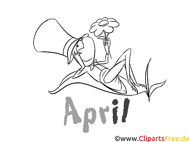 April - Months of the Year Coloring Pages