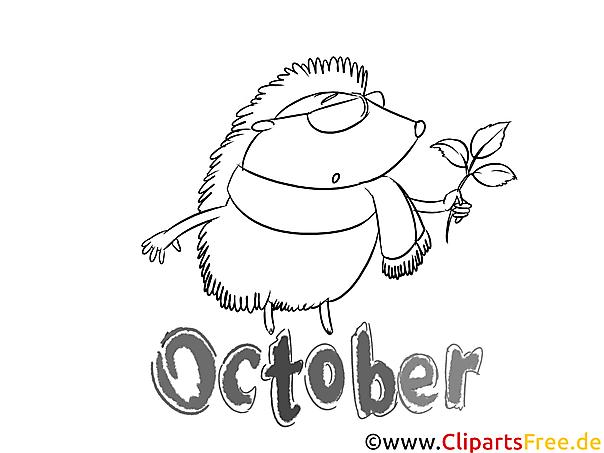October Coloring Sheet free