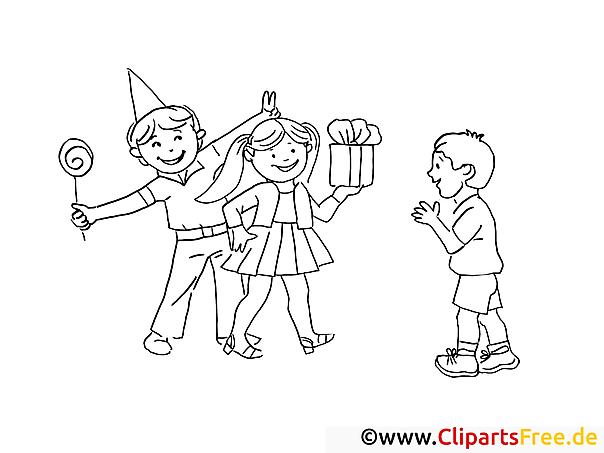 Ausmal Bild Geburtstag