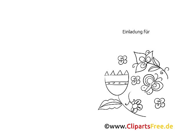 Blumen Einladungen selbst gestalten und drucken