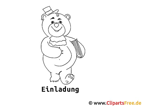 Cartoonbär Malvorlage