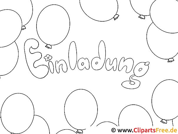 Ausmalbilder Einladung Geburtstag – cloudhash.info