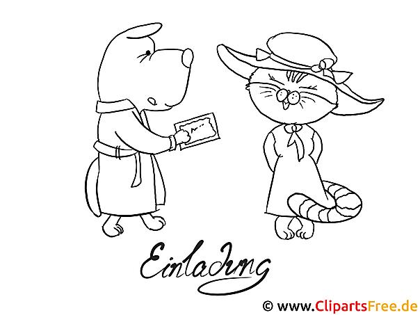 Hund und Katze Ausmalbild zum Ausdrucken und Ausmalen