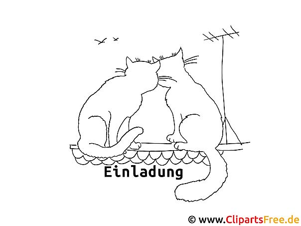 Katzen auf dem Dach Ausmalbilder zum Malen