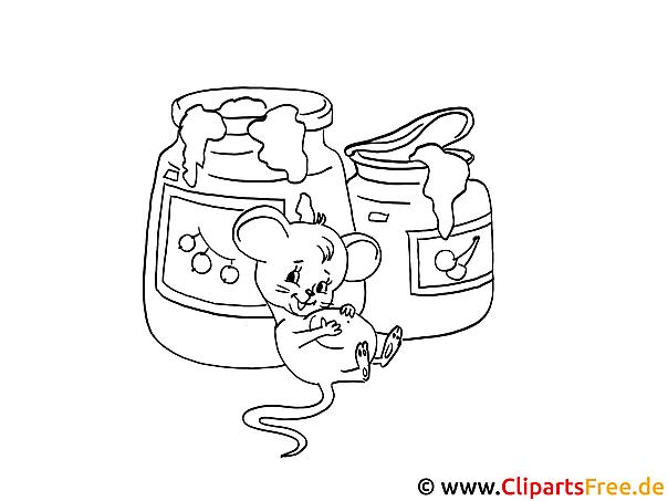 Maus im Schrank Malvorlage