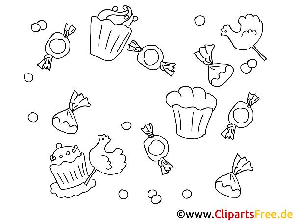 Süßigkeiten Bilder zum Ausmalen